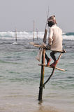 Stilt Fishermen of Sri Lanka Royalty Free Stock Photo