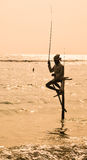 Stilt Fishermen of Sri Lanka Stock Photos