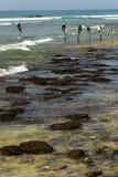 Stilt fishermen in Sri Lanka Royalty Free Stock Images