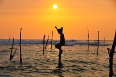 Stilt fishing Stock Photos
