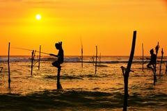 Stilt fishing Royalty Free Stock Photography