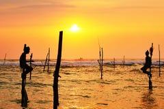 Stilt fishing Stock Image