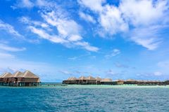 Stilt holiday homes in sea Stock Photography