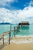 Stilt house. In tropical waters stock photo