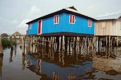 Stilt house in Ganvie stock photo