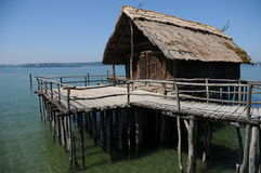 Stilt House / Pile Dwelling / Palafitte Royalty Free Stock Photo
