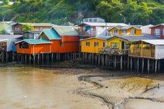 Stilt houses in Castro, Chiloe island (Chile) Stock Images