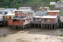 Stilt houses at Castro, Chiloe Island, Chile Stock Images