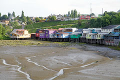 Stilt houses at Castro, Chiloe Island, Chile Stock Photography
