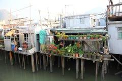 Stilt houses in chinese fishing village Stock Image