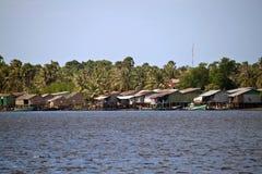 Stilt Houses In Kampot Stock Images