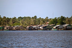Stilt houses in Kampot Stock Images