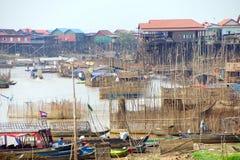 Stilt houses of Kompong Kleang floating village Royalty Free Stock Images