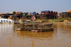 Stilt houses of Kompong Kleang floating village Stock Image