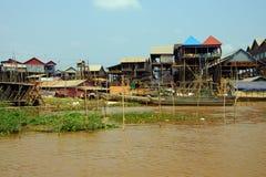 Stilt houses of Kompong Kleang floating village Royalty Free Stock Photo