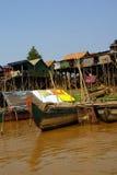 Stilt houses of Kompong Kleang floating village Stock Photos