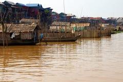 Stilt houses of Kompong Kleang floating village Royalty Free Stock Photography