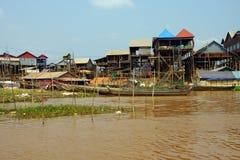 Stilt houses of Kompong Kleang floating village Royalty Free Stock Image