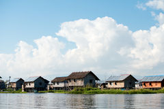 Stilt Houses in Lake Villiages, Inle Lake, Myanmar (Burma). Stock Photo