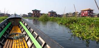 Stilt houses in Myanmar royalty free stock photography