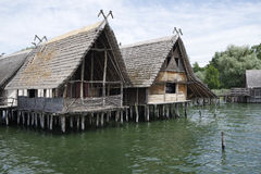 Stilt houses Stock Image