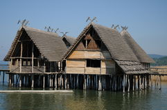 Stilt Houses / Pile Dwellings / Palafittes Royalty Free Stock Image