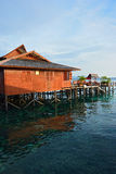 Stilt houses in Sipadan Mabul Stock Images