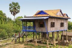 Stilt houses in a small village near Kratie, Cambodia Stock Photos