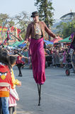 Stilt performance Royalty Free Stock Photography