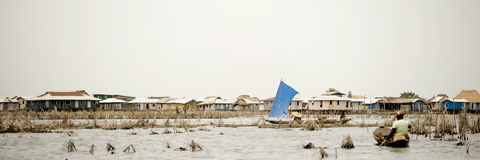 Stilt village of Ganvie in Benin Royalty Free Stock Photography