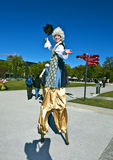 Stilt Walker at the BUGA Horticulture Show Royalty Free Stock Images
