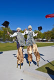 Stilt Walkers at the BUGA Horticulture Show Stock Image