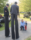 Stilt Walkers Royalty Free Stock Photo