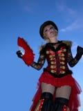 Stilt woman dancing at Nice Port Festival September 14th 2013 Stock Image
