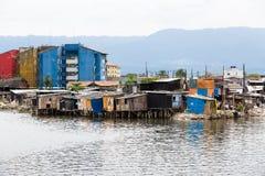 Stilt Wood, Santos, Brazil. Stilt houses on the outskirts of Santos, Brazil royalty free stock photos
