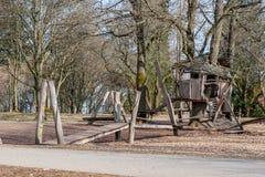 Stilt - Wooden house on props. Wooden house on props. Stilt Stock Photo