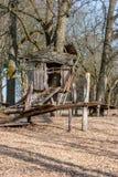 Stilt - Wooden house on props. Wooden house on props. Stilt Stock Image