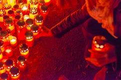 Stilte maart in geheugen van slachtoffers van Colectiv-Club Stock Afbeelding