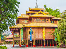 Stilted building of Dai nationality Royalty Free Stock Photo