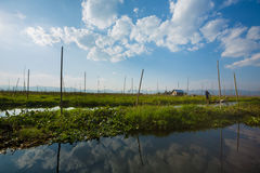 Stilted house on Inle Lake Royalty Free Stock Photography