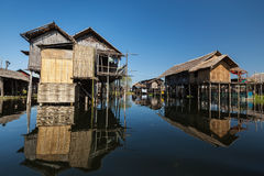 Stilted houses Stock Photography