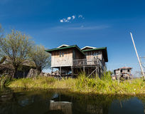 Stilted houses Stock Photos