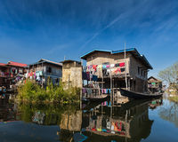 Stilted houses Royalty Free Stock Images