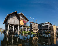Stilted houses Royalty Free Stock Photography