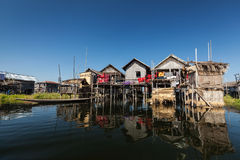 Stilted houses Stock Image