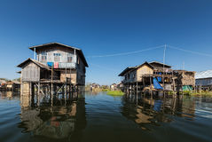 Stilted houses Royalty Free Stock Photo