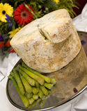 Stilton cheese with asparagus Stock Image