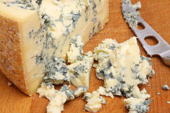 Stilton Cheese on Cheeseboard Stock Photo