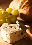 Stilton Cheese With Grapes Royalty Free Stock Photos