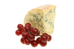 Stilton cheese and grapes Royalty Free Stock Image
